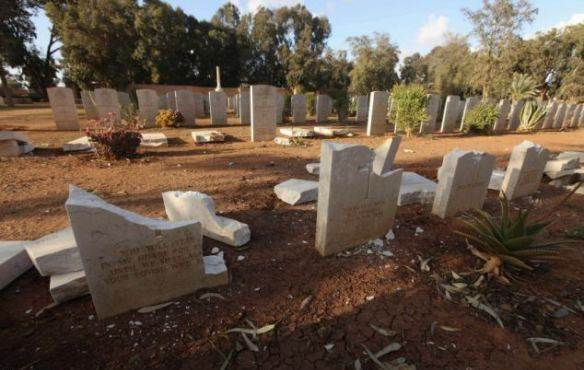 14 Benghazi Vandalised Graves